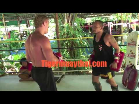 K-1 Superstar Rickard Nordstrand trains @ Tiger Muay Thai Video