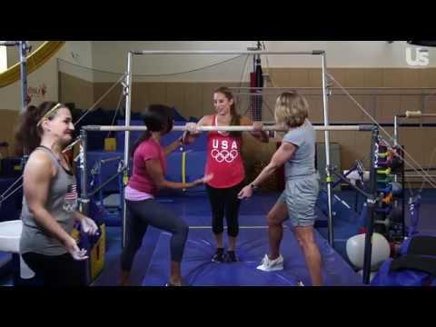 Us Test Drive: Olympic Gymnastics With Dominique Dawes & Nadia Comaneci!