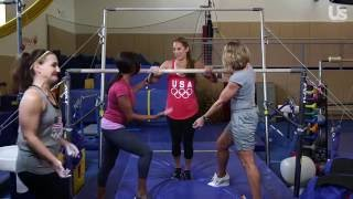 Us Test Drive: Olympic Gymnastics With Dominique Dawes & Nadia Comaneci!