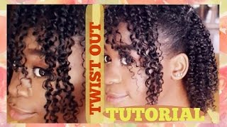 PERFECT TWIST OUT TUTORIAL ✿ NATURAL HAIR ✿