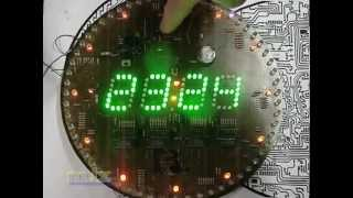 around digit led clock 60 led 160 Led wall clock