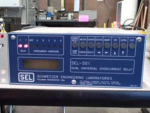 Protective relays -- digital overcurrent (Schweitzer SEL-501) relays