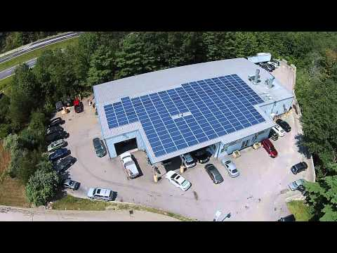 A Tour of Long Subaru Solar Panels from Above