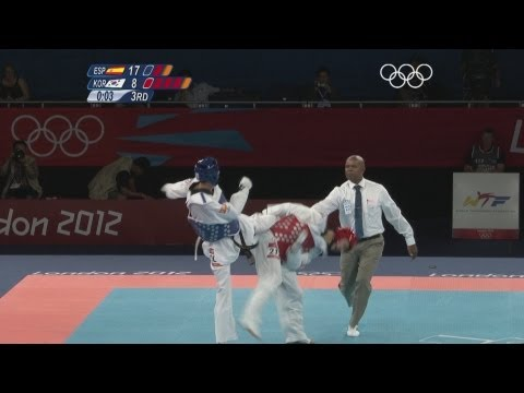 Taekwondo Men -58kg Gold Medal Final - Spain v Korea -  London 2012 Olympic Games Highlights