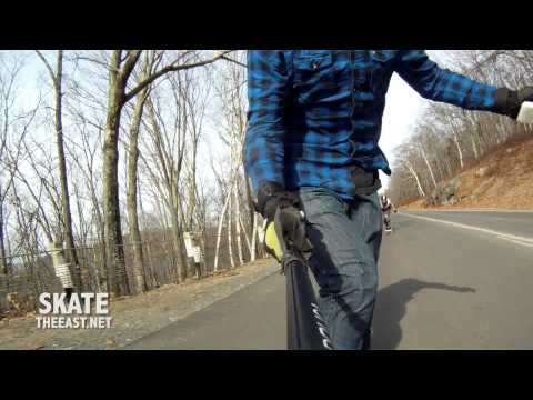 Longboarding: Raw Run in W. Mass with Henry and Lauren