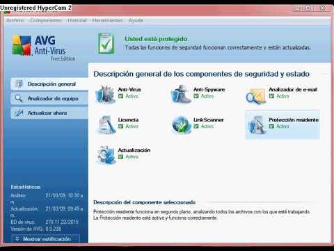 Desactivar antivirus AVG Free