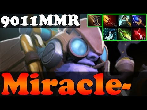 Dota 2 - Miracle- TOP 1 MMR IN THE WORLD 9011MMR Plays Tinker - Full Game - Ranked Match