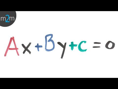 Ecuación general de la recta (igualada a cero)