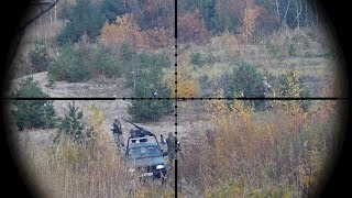 Raku Gangster - Airsoft sniper shoots at 100 meters with SSG-24