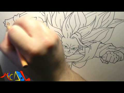 Dibujando a: Goku SSJ3