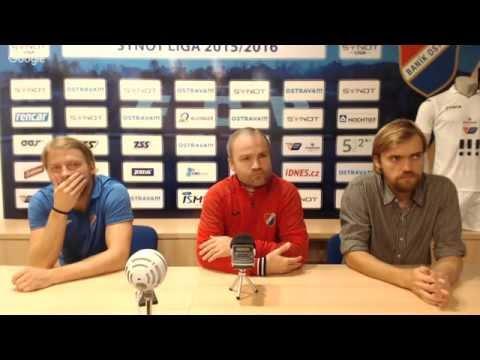 Tisková konference FC Baník Ostrava před utkáním s FC Slovan Liberec