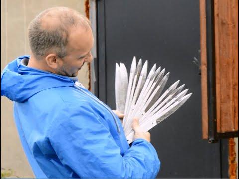 Метание 12 ножей на скорость