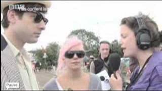 Mark Ronson and Lily Allen Interview at Glastonbury