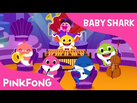 Orchestra Sharks   Baby Shark   Pinkfong Songs for Children