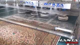 Handmade oriental rug washing and wringing
