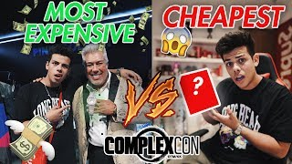 MOST EXPENSIVE vs CHEAPEST ITEM AT COMPLEXCON (INSANE FIND!)