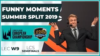 Funny Moments - LCS Semifinals & LEC week 9 - Summer Split 2019