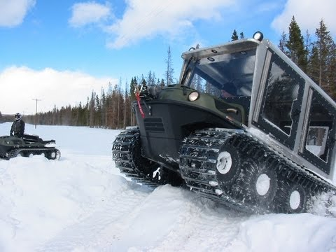 Deep snow riding with tracked Argos in Wyoming