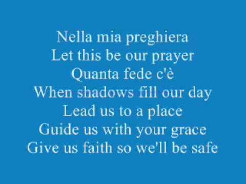The Prayer - Lyrics - Andrea Bocelli e Celine Dion - YouTube