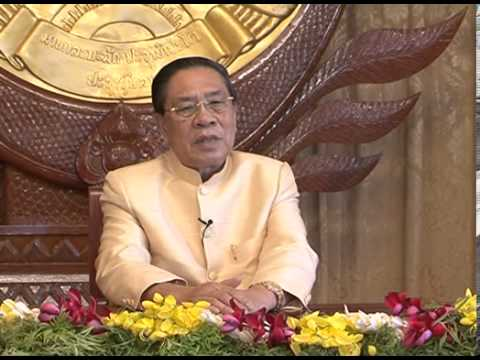 Lao NEWS on LNTV-President  Choummaly Sayasone extended his best wishes on Lao New Year 15/4/2013