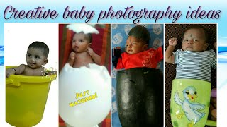 Creative baby photoshoot ideas at no cost @ArtistInU