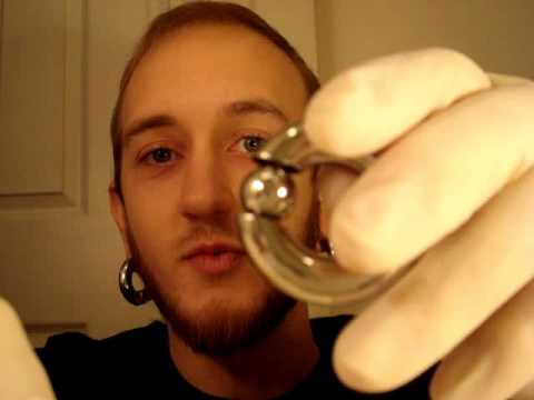 How to insert large gauge captive bead rings and segment for Pierced nipple stretching jewelry