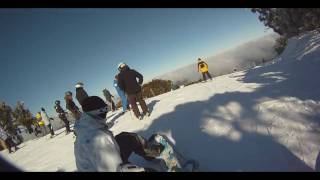 Snowboarding Family run Mt Buller 2010