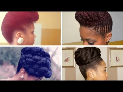 Prom Formal Updo Hairstyles on Natural Hair