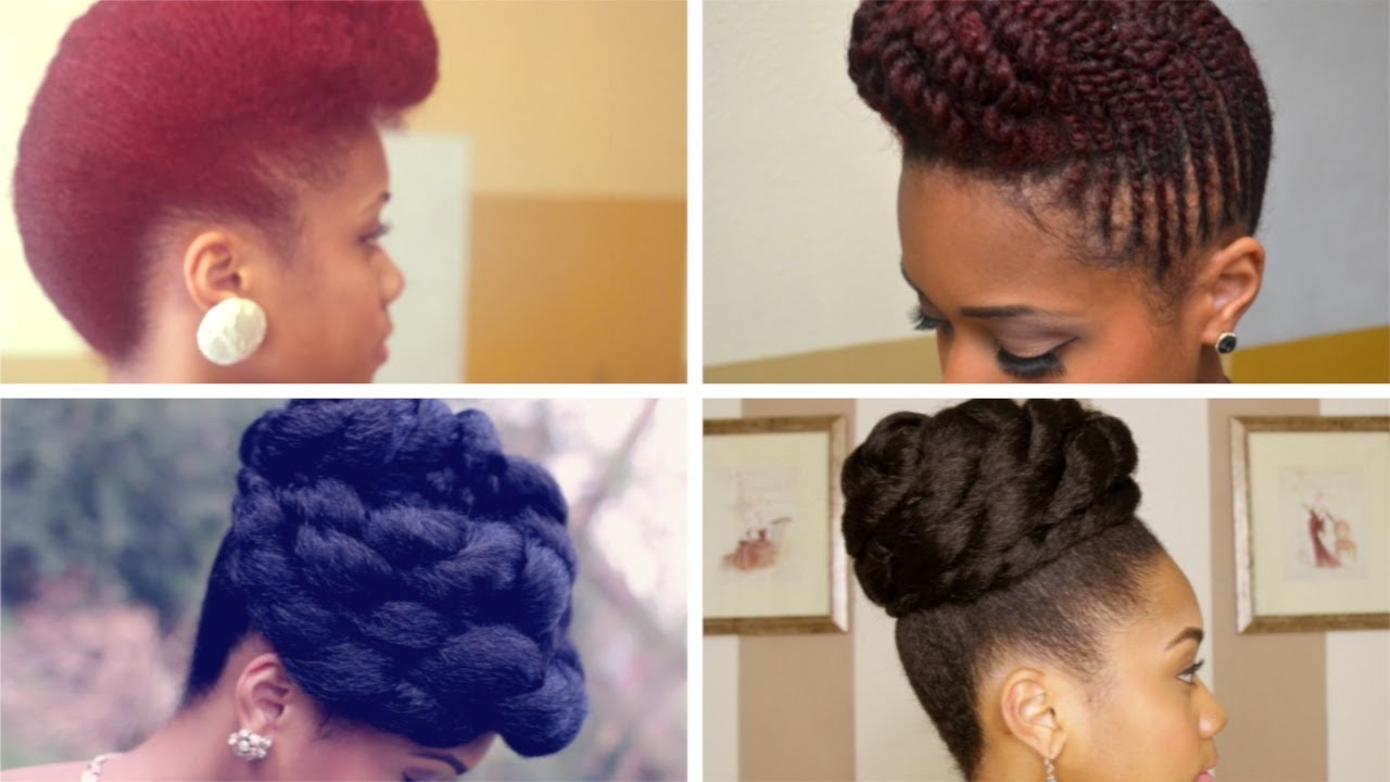 Prom Formal Updo Hairstyles on Natural Hair - YouTube