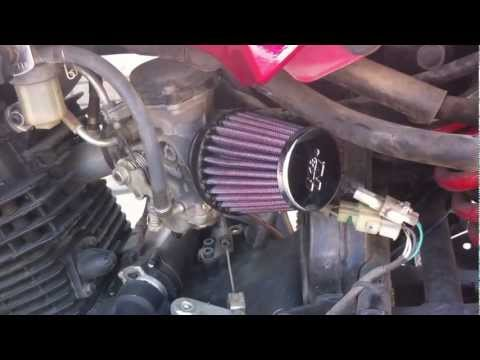 K&N air filter sound in Yamaha Fazer