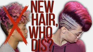 Complete Hair Transformation | Bleach, Cut, Color, Shave, Straighten!
