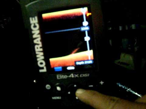 Lowrance Elite 4x DSI trackback feature