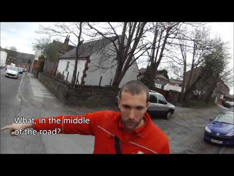 WR11NDD - Royal Mail close pass and chat