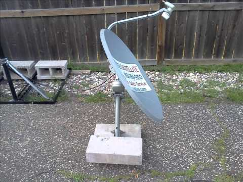 Upside Down  Motorized Free To Air Satellite System