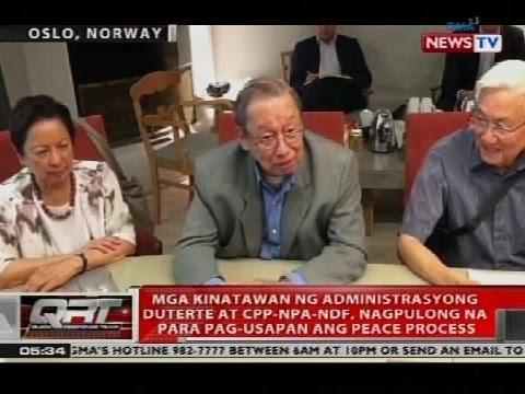 Mga kinatawan ng administrasyong Duterte at CPP-NPA-NDF, nagpulong