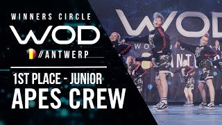 Ape's Crew | 1st Place Junior Division | World of Dance Antwerp Qualifier 2018 | Winners Circle