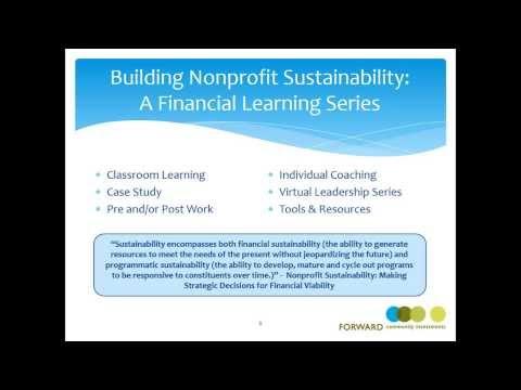 2013 Building Nonprofit Sustainability: A Financial Learning Series Green Bay Kickoff Webinar