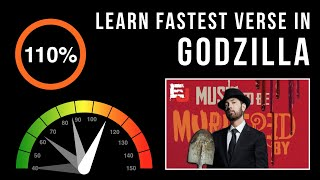 Let's Practice! Eminem's Fastest Verse In 'Godzilla' (Slowed down w/ scrolling lyrics)