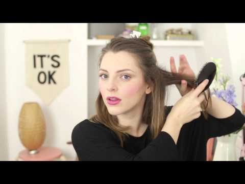 How to master backcombing, for big volume in thin, fine hair with Essie Button -- All Things Hair