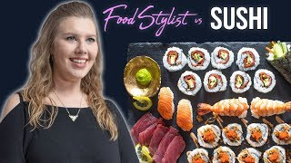 Food Stylist Shows How to Style Sushi For Photography | Styling Sushi Rolls and Nigiri