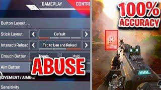 How To ABUSE Aim Assist + Improve Aim PS4/XBOX Controller Apex Legends! (BEST Settings Apex Legends)