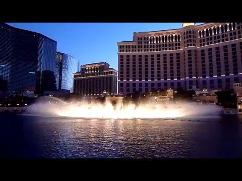 Bellagio Fountains In Hd - Andrea Bocelli  - May 21st, 2010 video