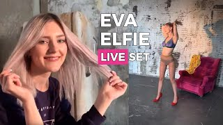 Eva Elfie Shows Classic Pantyhose - Art Nylons Magazine - LIVE SESSION