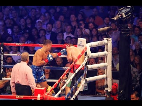 GGG Gennady Golovkin 2ND ROUND KNOCKOUT vs Marco Antonio Rubio!