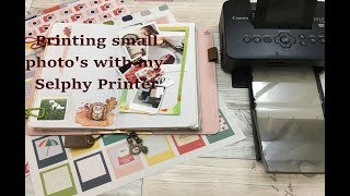 How I print small photos for my journal with the Canon Selphy
