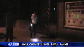 Okul �n�nde ��pheli bavul pani�i ! (V�DEO)