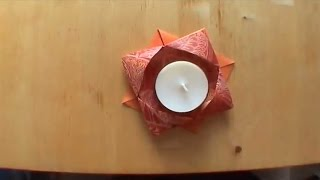 How To Make An Origami Candle Holder - Falte Dir Deinen Origami Kerzenständer!