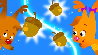 Were is The Acorn ? | Playing Hide And Seek for Children | Learning Games for Kids With Sammy & Eve