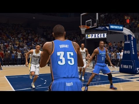 NBA Oklahoma City Thunder vs Indiana Pacers - 3rd Qrt - NBA Live 14 PS4 - HD