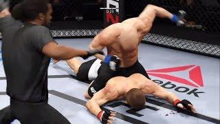 Khabib vs. GSP (EA Sports UFC 2) - CPU vs. CPU
